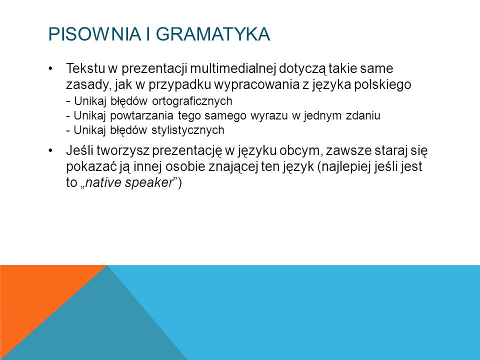 Pisownia i gramatyka