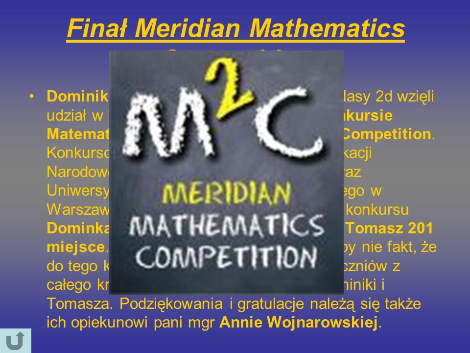 Finał Meridian Mathematics Competition