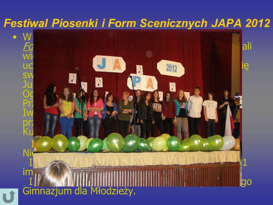 Festiwal Piosenki i Form Scenicznych JAPA 2012