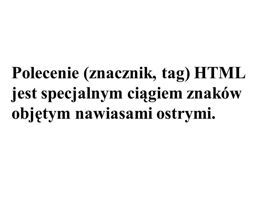 Polecenie (znacznik, tag) HTML