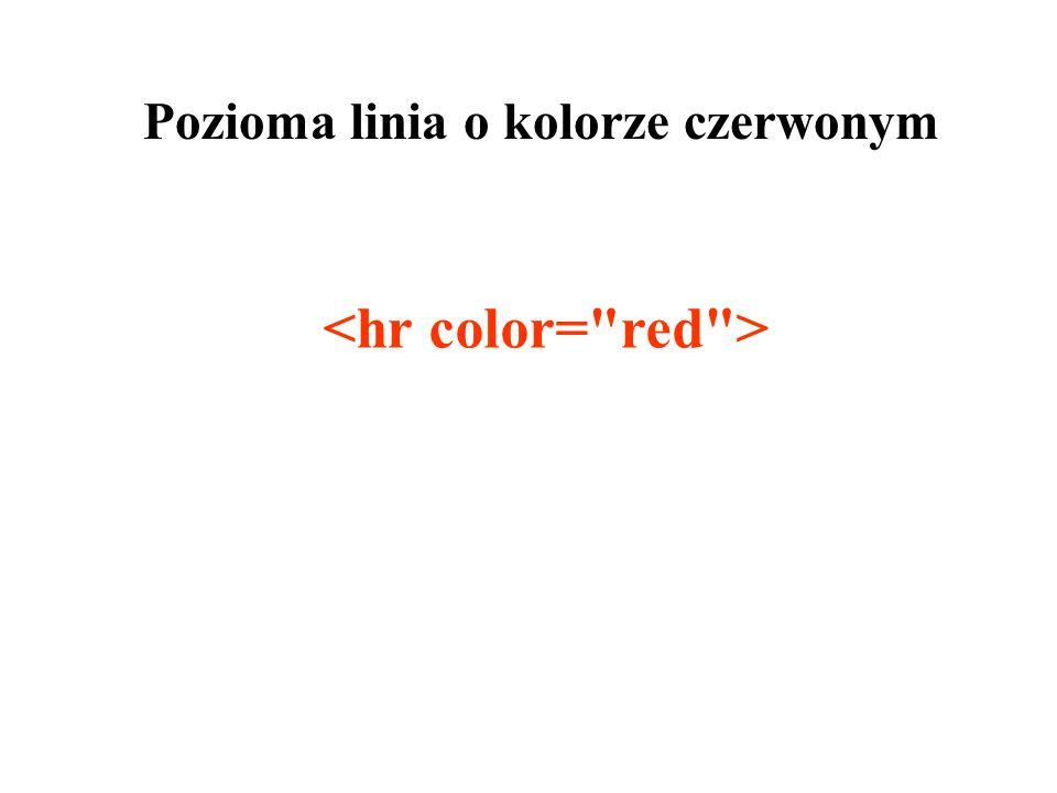 Pozioma linia o kolorze czerwonym