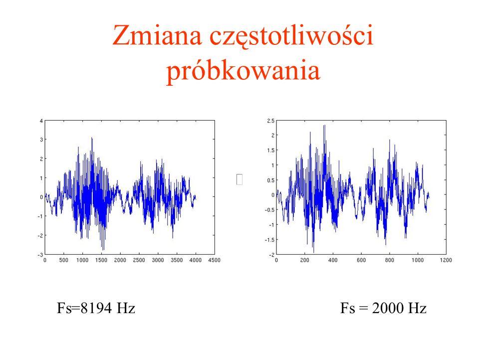 Zmiana częstotliwości próbkowania