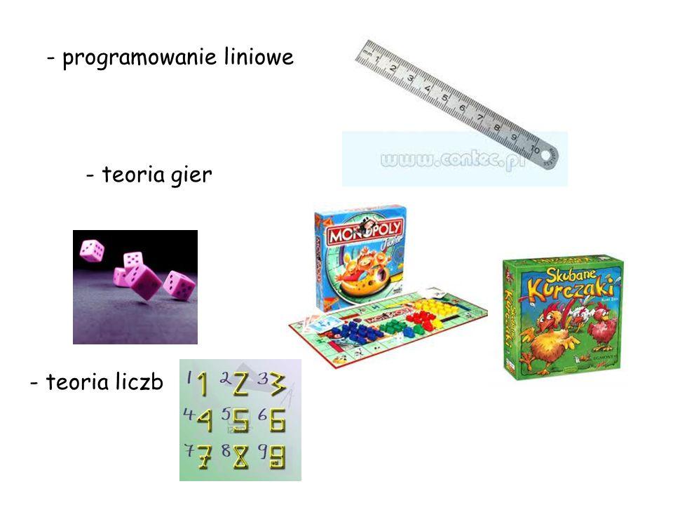 - programowanie liniowe