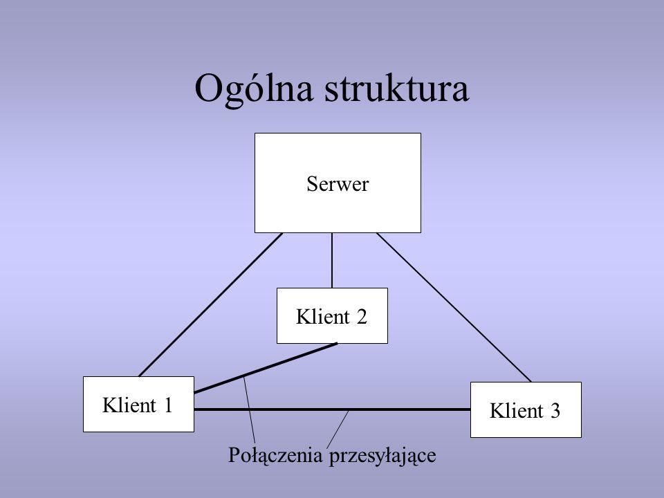 Ogólna struktura Serwer Klient 2 Klient 1 Klient 3