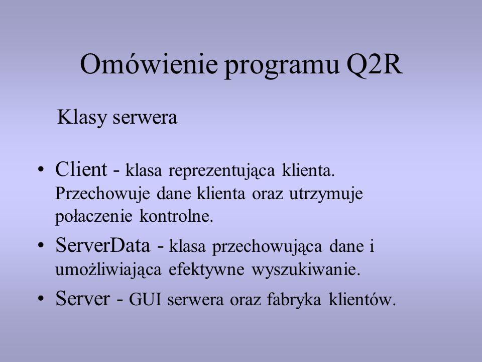 Omówienie programu Q2R Klasy serwera