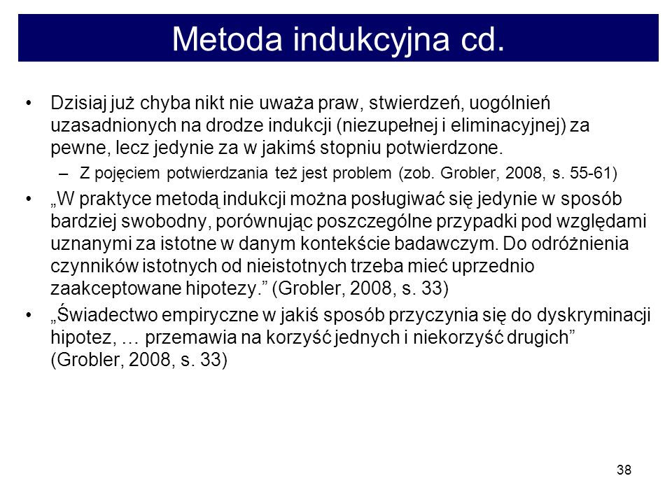 Metoda indukcyjna cd.