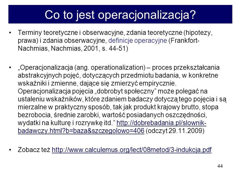 Co to jest operacjonalizacja