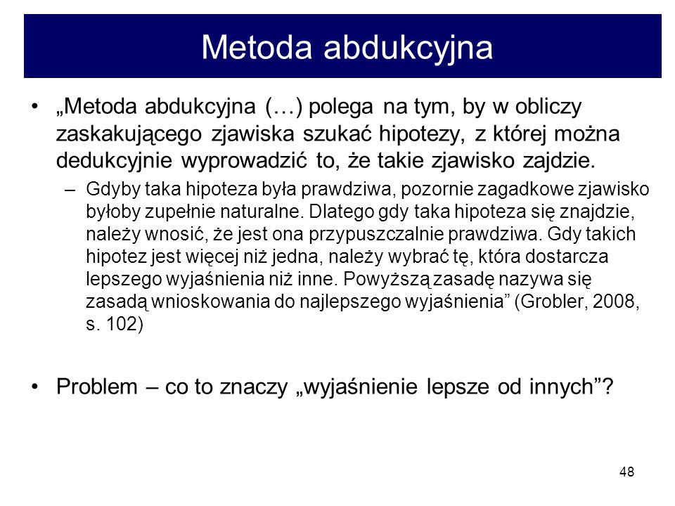 Metoda abdukcyjna