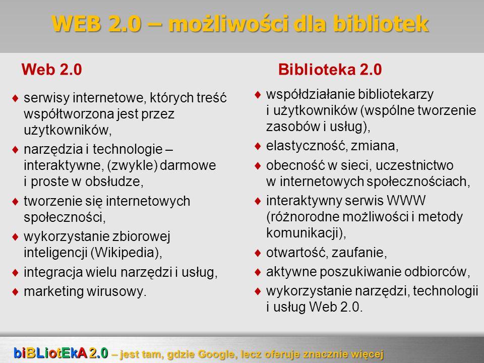 WEB 2.0 – możliwości dla bibliotek