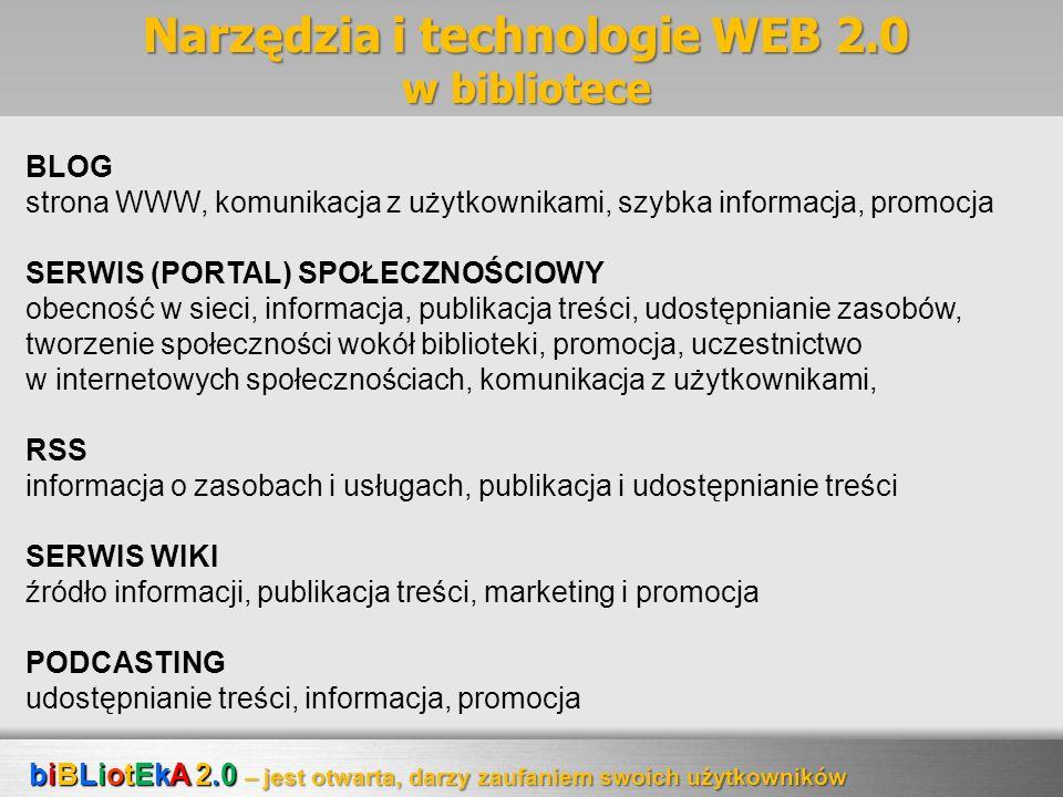Narzędzia i technologie WEB 2.0 w bibliotece