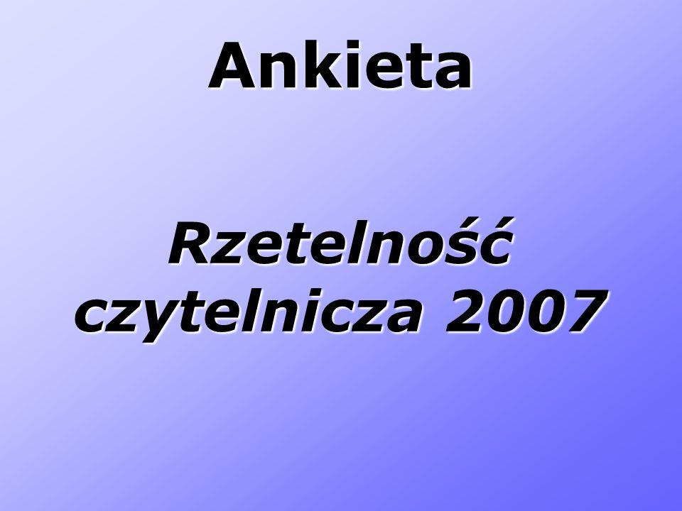 Rzetelność czytelnicza 2007