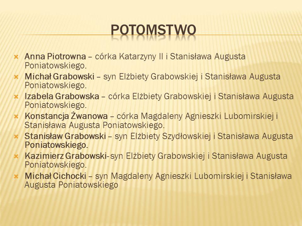 potomstwo Anna Piotrowna – córka Katarzyny II i Stanisława Augusta Poniatowskiego.