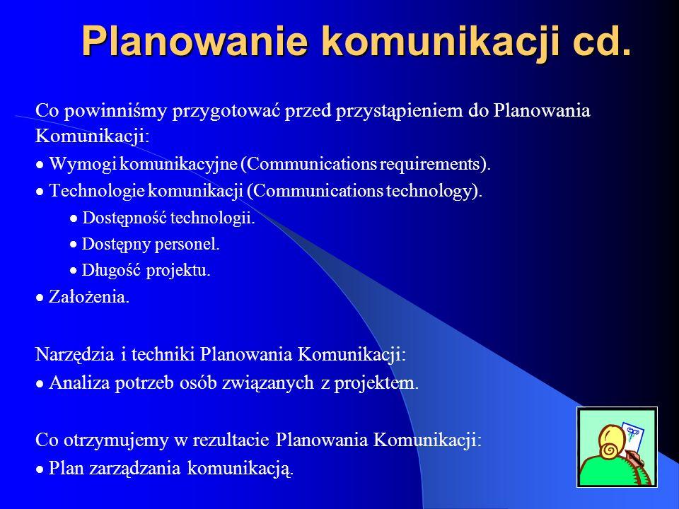 Planowanie komunikacji cd.