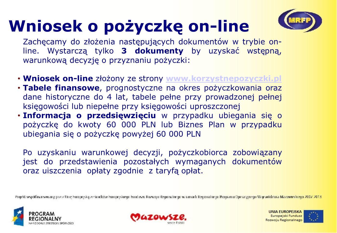 Wniosek o pożyczkę on-line