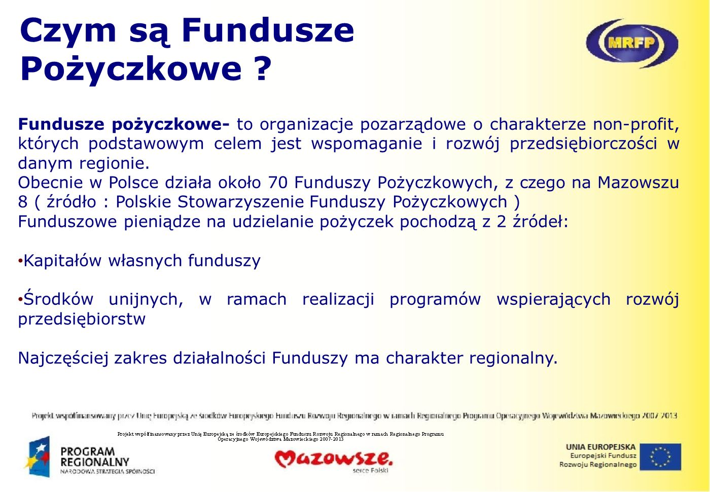Czym są Fundusze Pożyczkowe