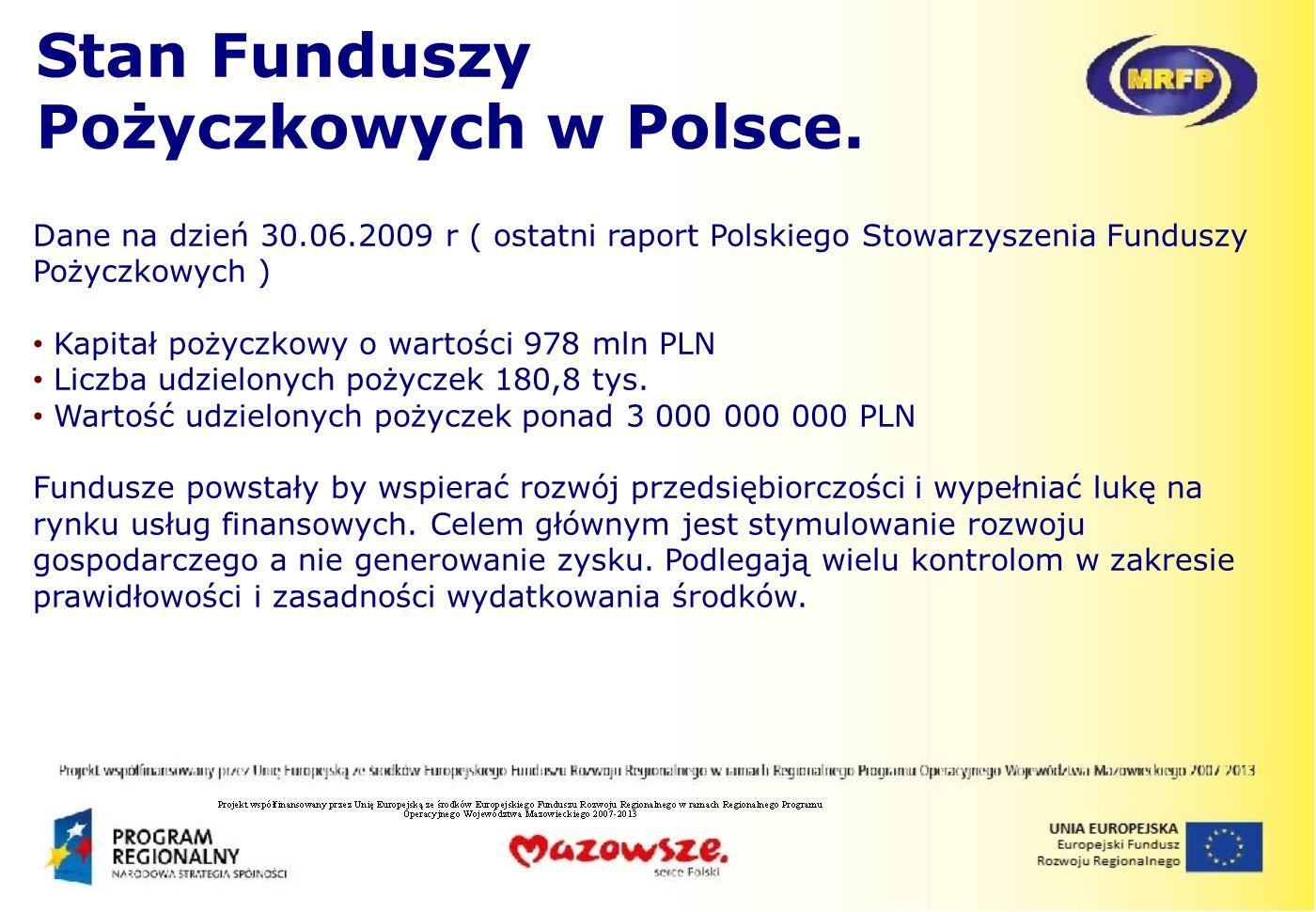 Stan Funduszy Pożyczkowych w Polsce.