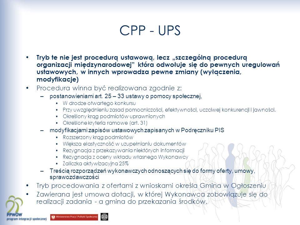 CPP - UPS