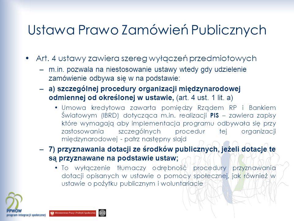Ustawa Prawo Zamówień Publicznych