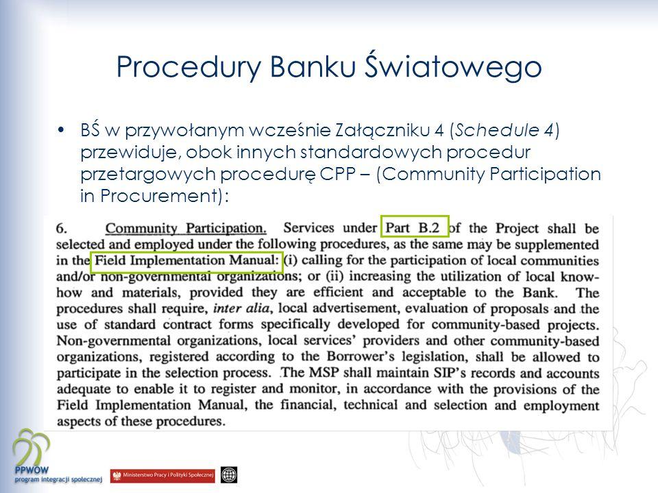 Procedury Banku Światowego