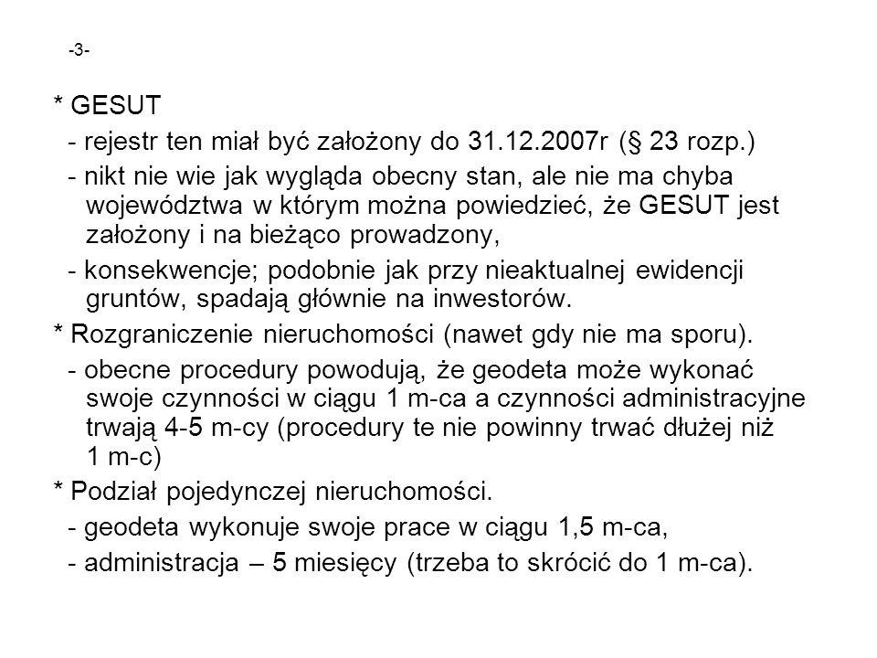 - rejestr ten miał być założony do 31.12.2007r (§ 23 rozp.)
