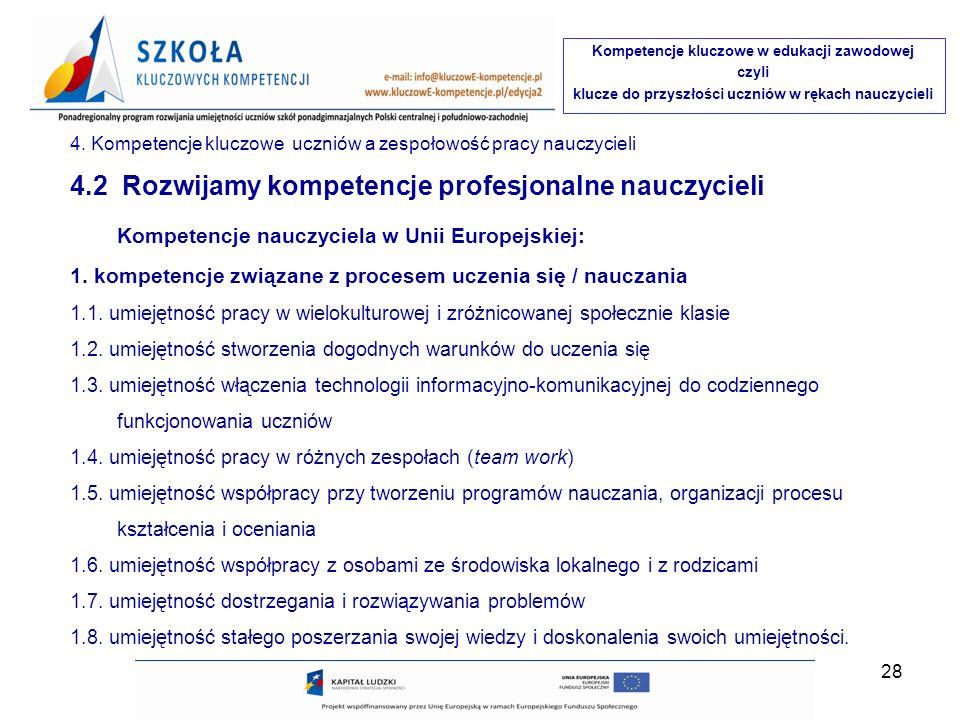 Kompetencje kluczowe w edukacji zawodowej