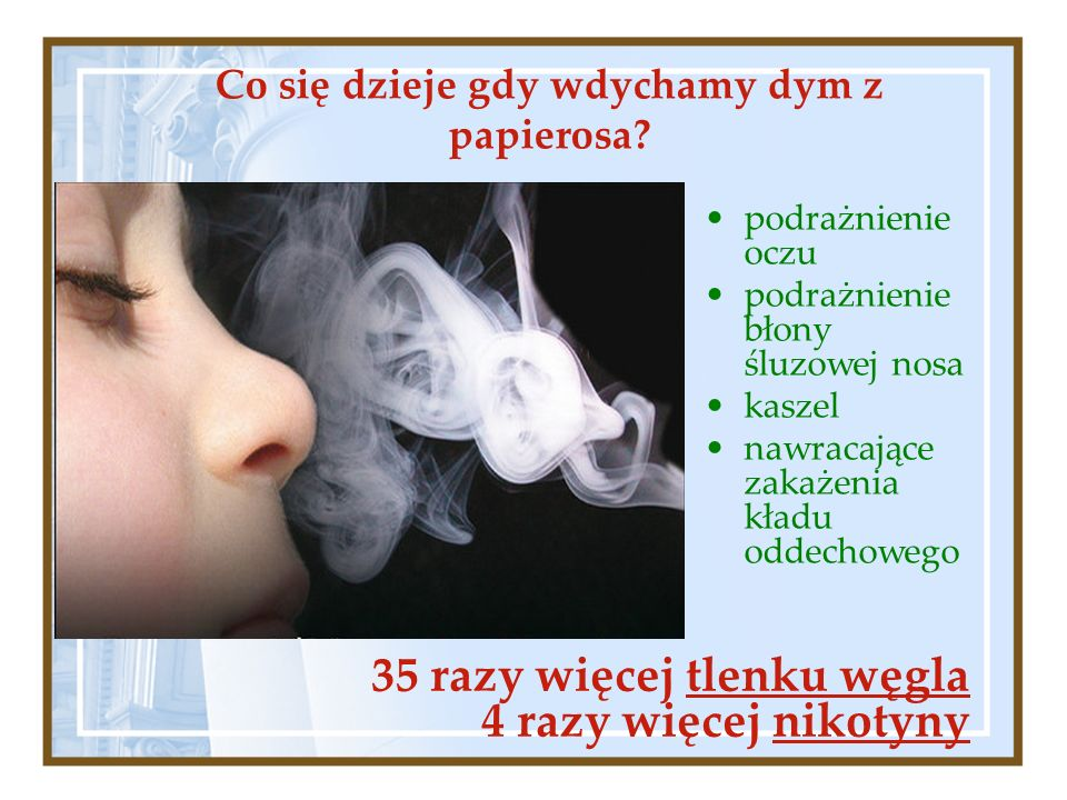 Co się dzieje gdy wdychamy dym z papierosa