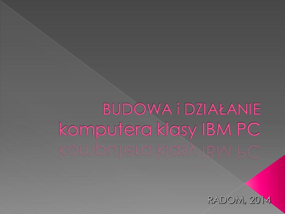 BUDOWA i DZIAŁANIE komputera klasy IBM PC