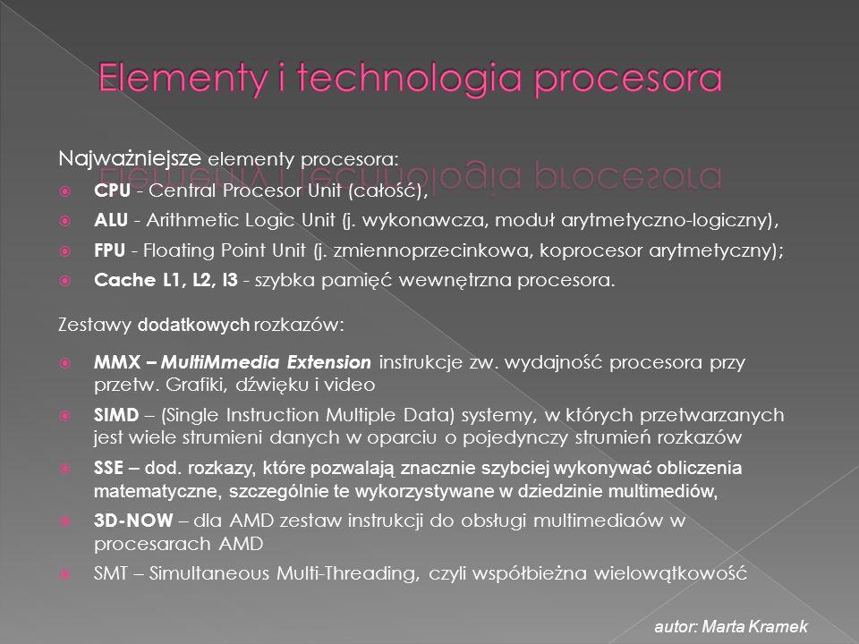 Elementy i technologia procesora