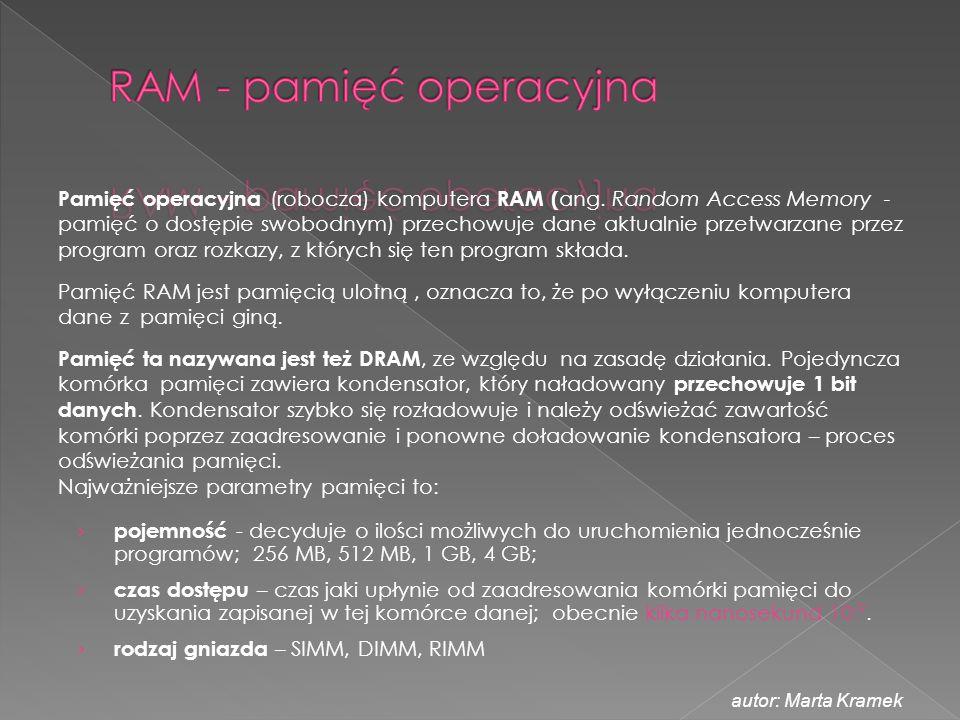RAM - pamięć operacyjna