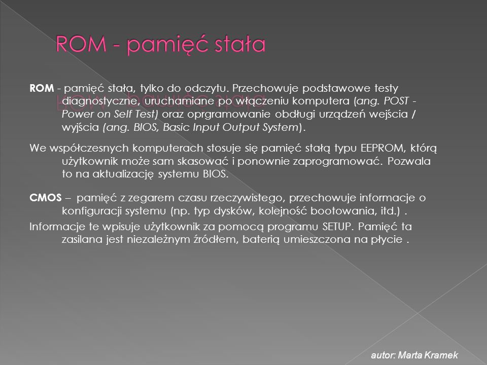 ROM - pamięć stała