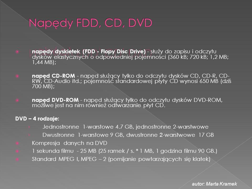 Napędy FDD, CD, DVD