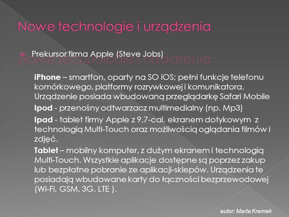 Nowe technologie i urządzenia
