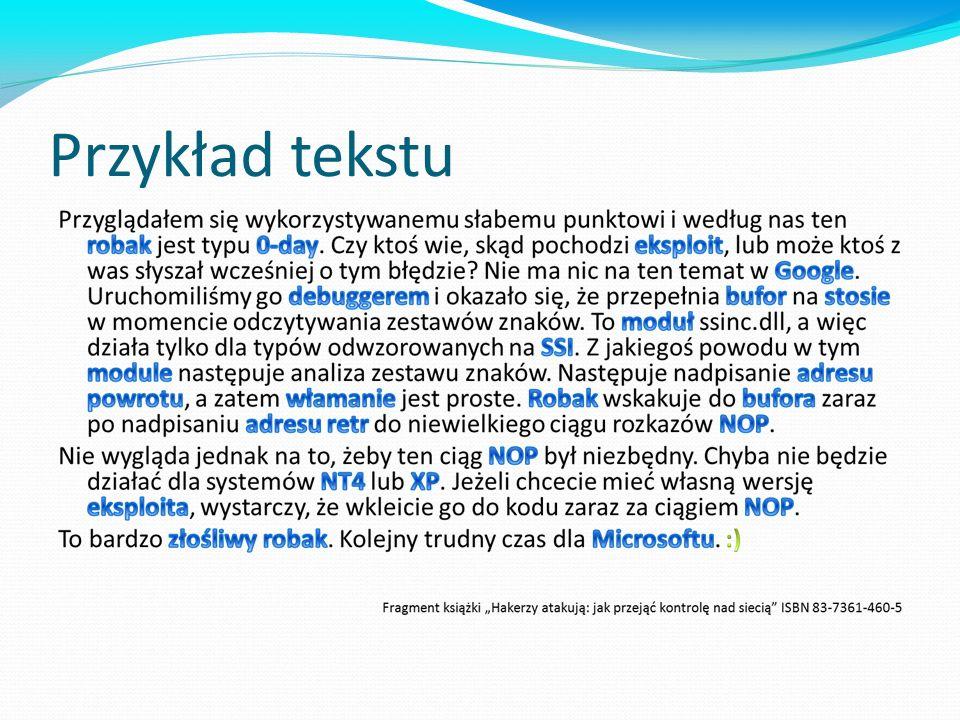 Przykład tekstu