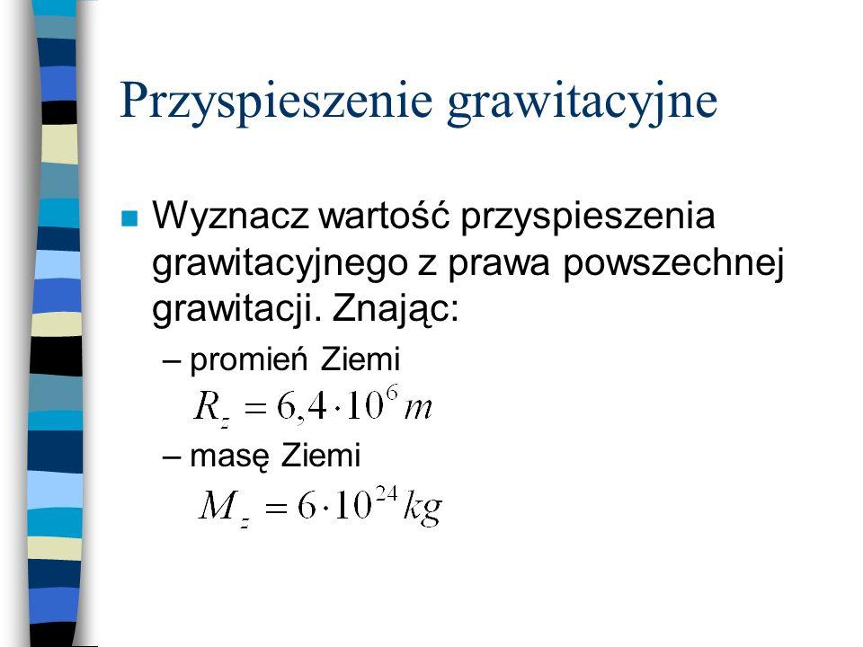 Przyspieszenie grawitacyjne