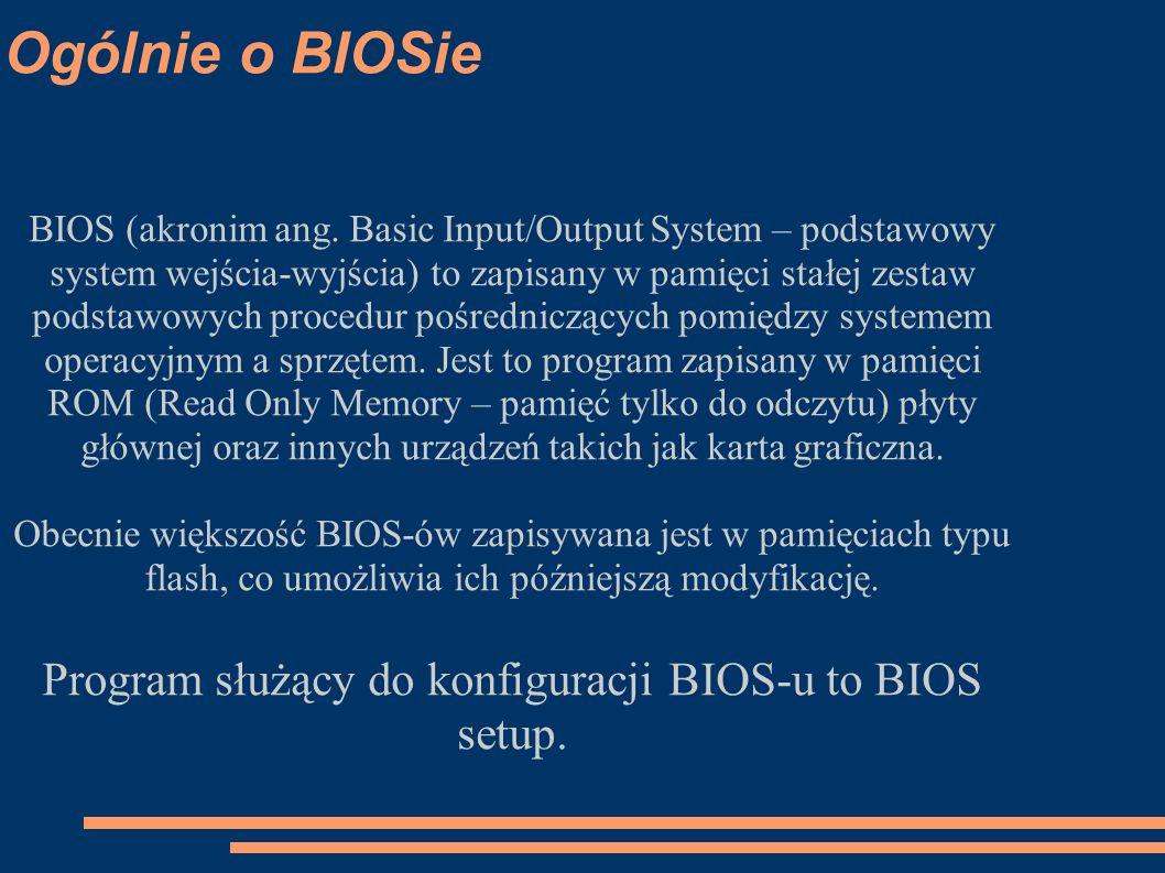 Program służący do konfiguracji BIOS-u to BIOS setup.