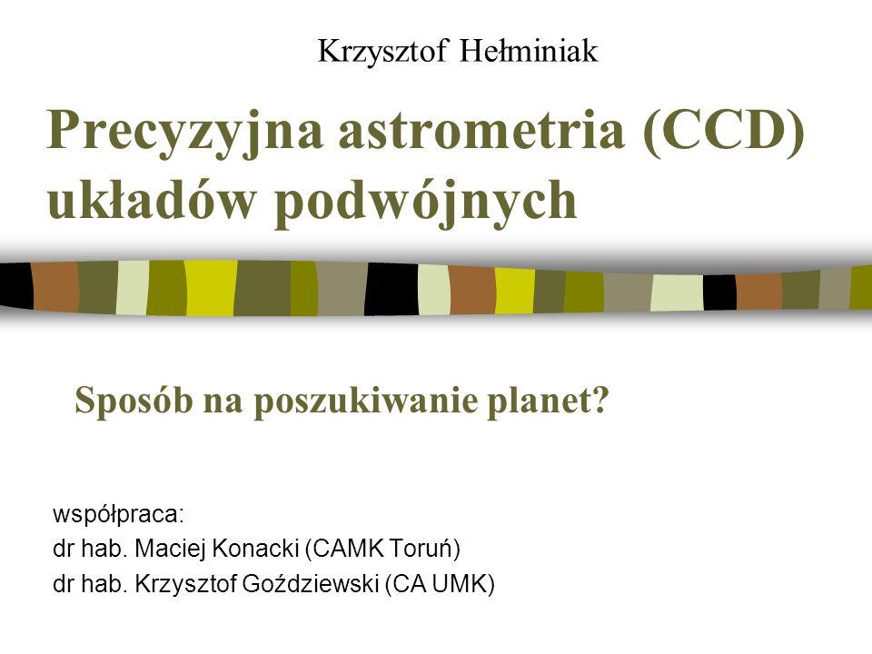 Precyzyjna astrometria (CCD) układów podwójnych