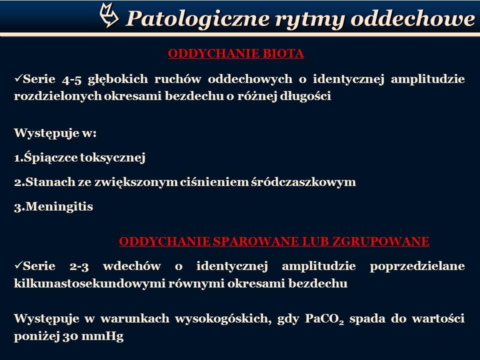  Patologiczne rytmy oddechowe