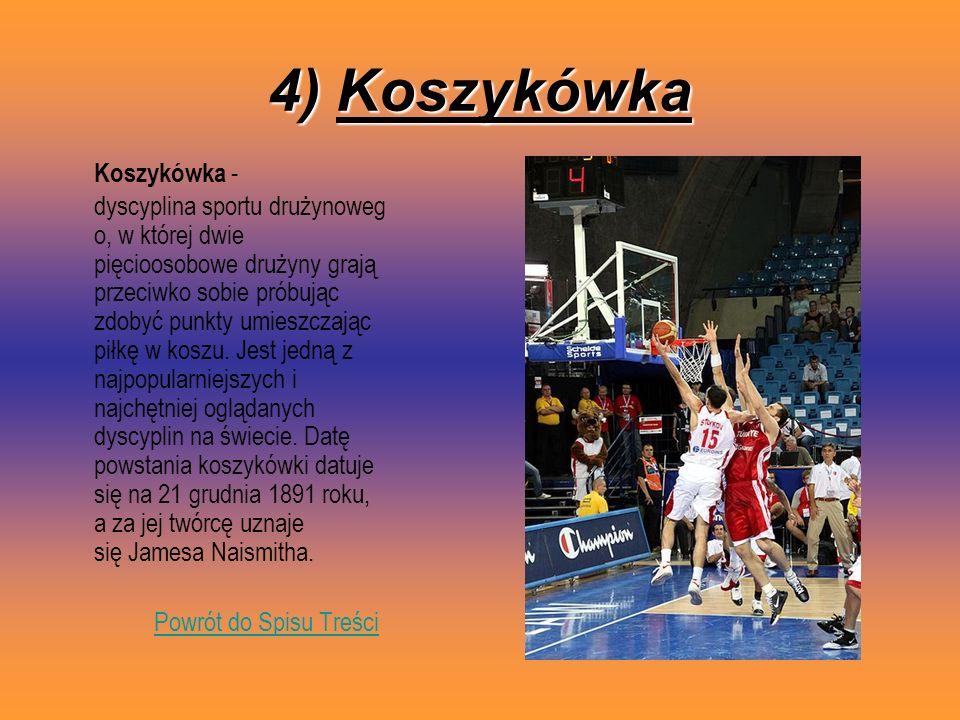 4) Koszykówka