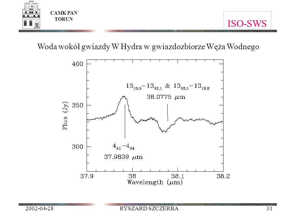 Woda wokół gwiazdy W Hydra w gwiazdozbiorze Węża Wodnego