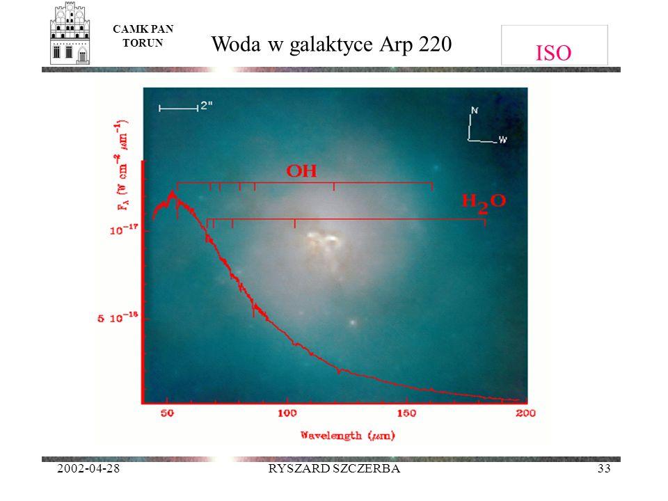 ISO Woda w galaktyce Arp 220 2002-04-28 RYSZARD SZCZERBA