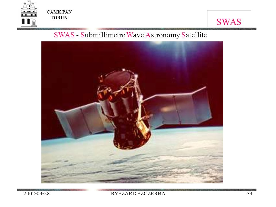 SWAS - Submillimetre Wave Astronomy Satellite