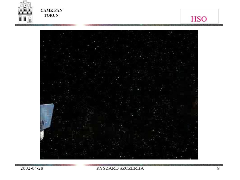 CAMK PAN TORUN HSO 2002-04-28 RYSZARD SZCZERBA