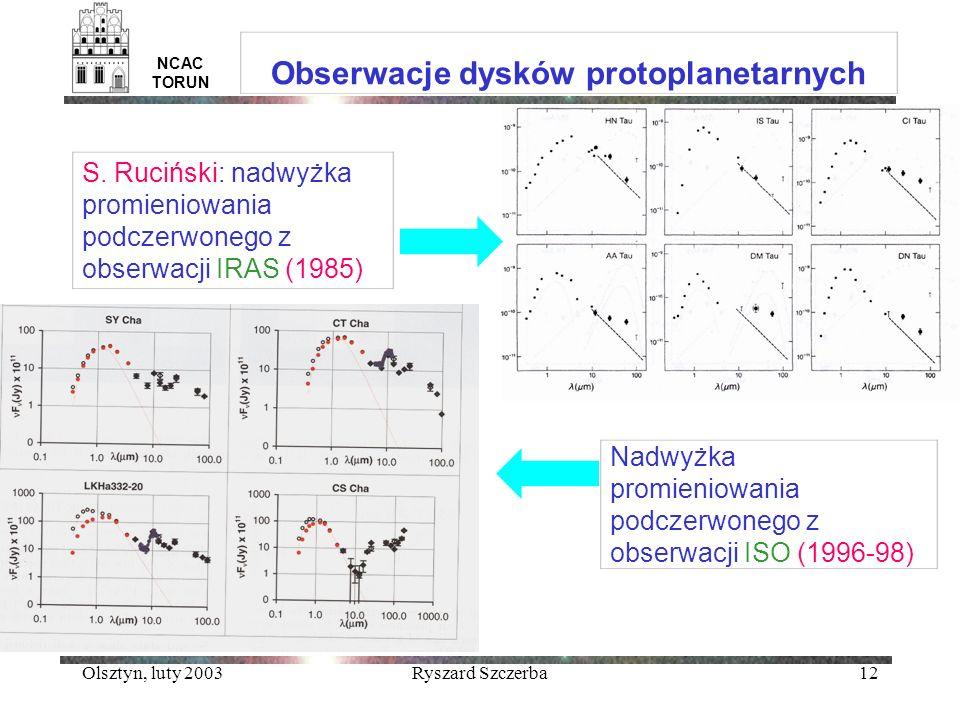 Obserwacje dysków protoplanetarnych