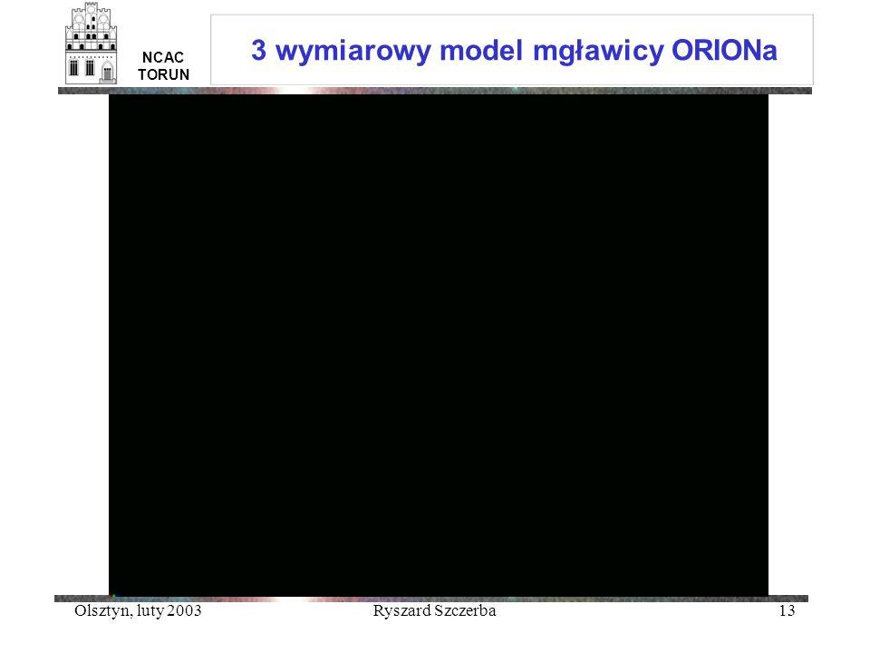 3 wymiarowy model mgławicy ORIONa