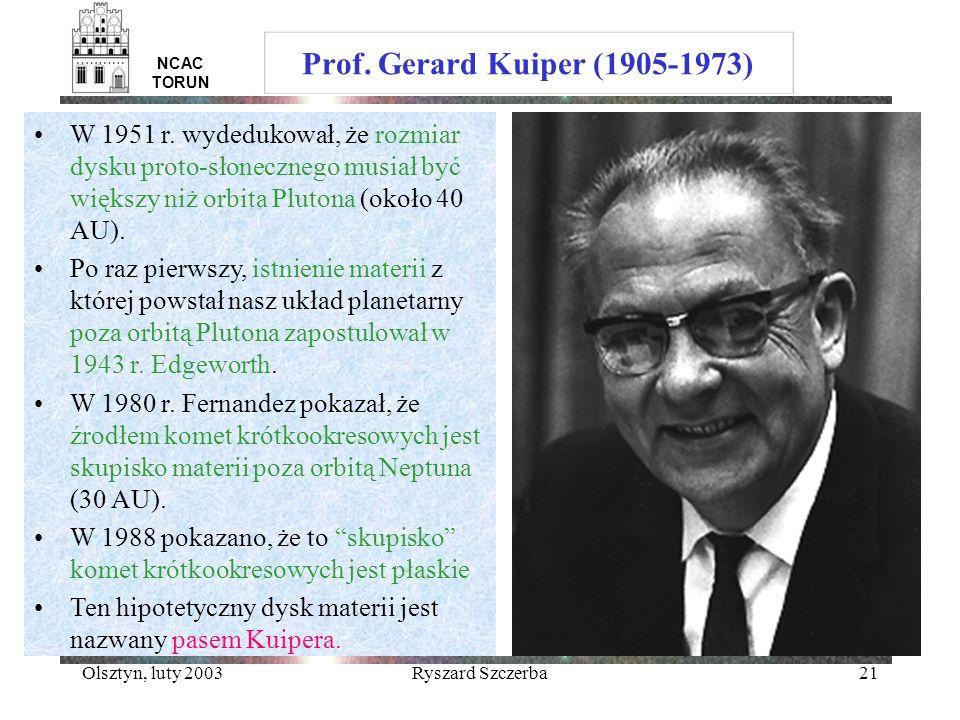 Prof. Gerard Kuiper (1905-1973) NCAC TORUN.