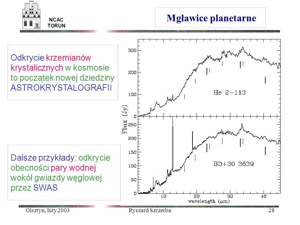 Mgławice planetarne NCAC TORUN. Odkrycie krzemianów krystalicznych w kosmosie to początek nowej dziedziny ASTROKRYSTALOGRAFII.