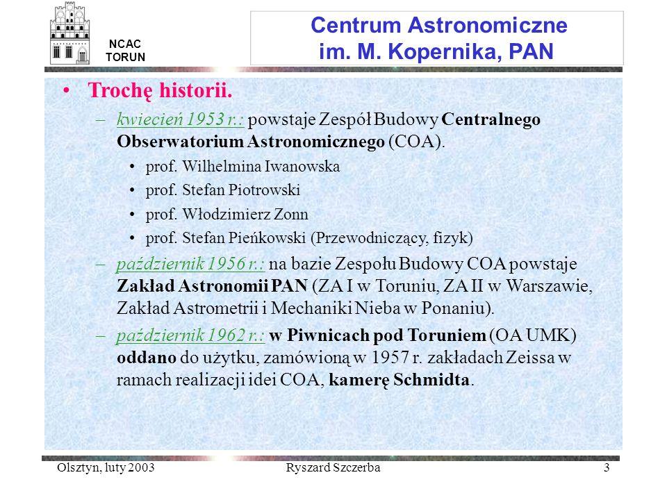 Centrum Astronomiczne im. M. Kopernika, PAN
