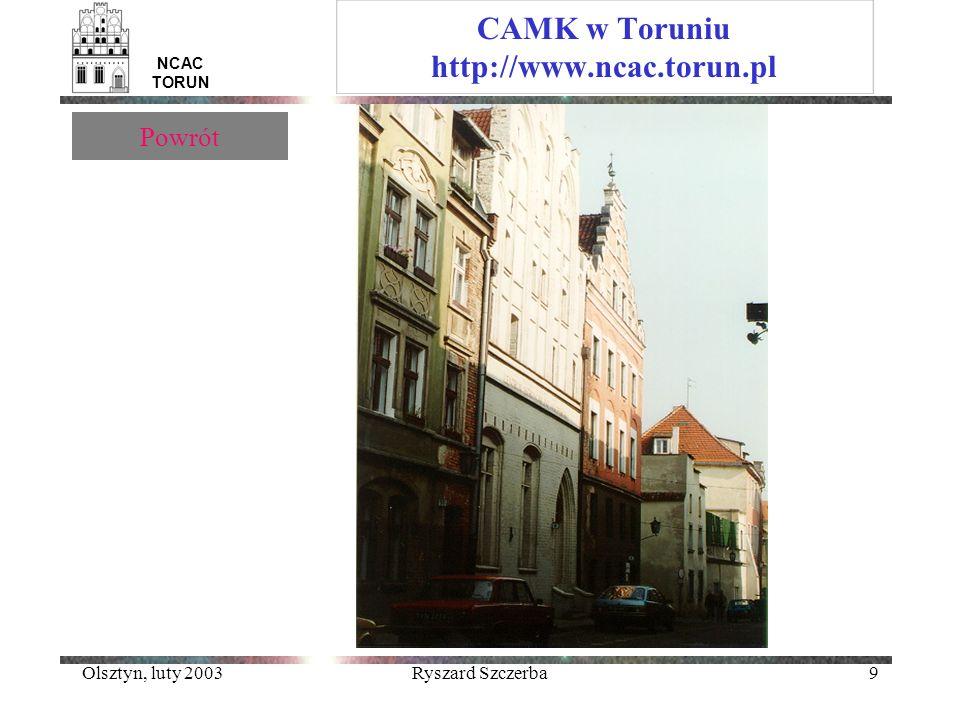 CAMK w Toruniu http://www.ncac.torun.pl