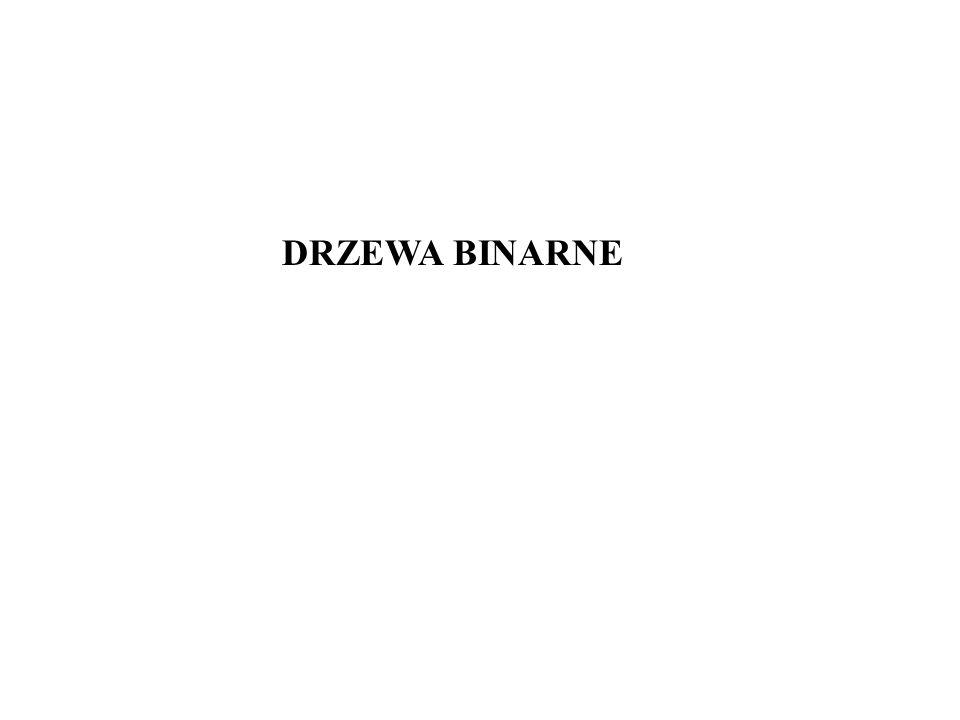 DRZEWA BINARNE