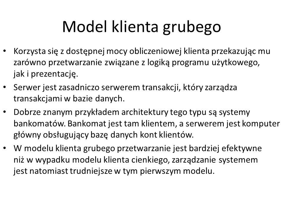 Model klienta grubego